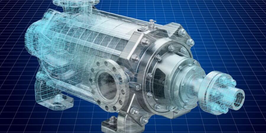 Цифровое изображение двигателя.