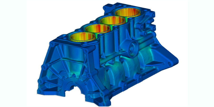 Thermal simulation of engine