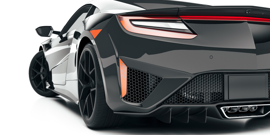 Rendering of sports car.