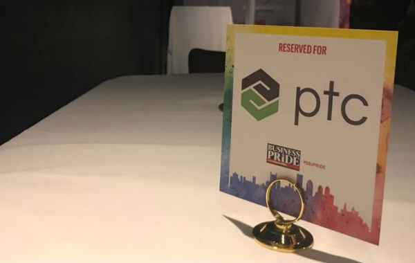 PTC's booth at the Boston Business Journal's Business of Pride