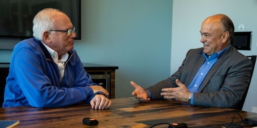 Onshape CEO Jon Hirschtick meets with PTC CEO Jim Heppelmann