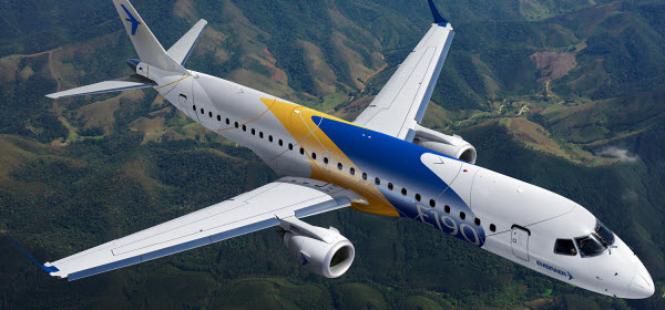 embraer aircraft flying