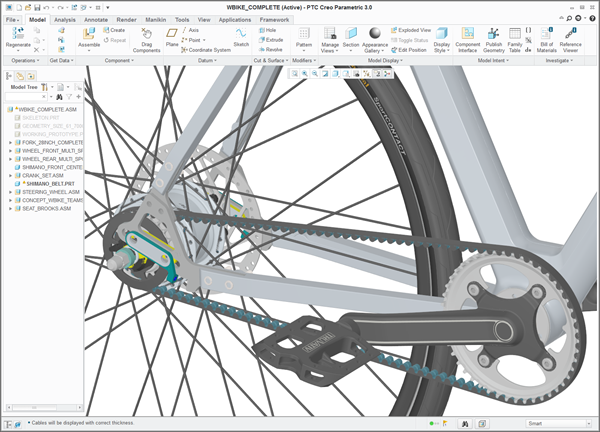 Contest winner, detail, from Creo CAD software