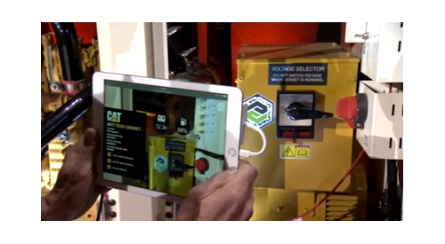 Caterpillar machinery with augmented reality enabled