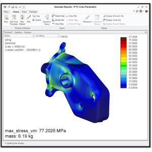 With simulation software, engineers can optimize parts for strength and mass.
