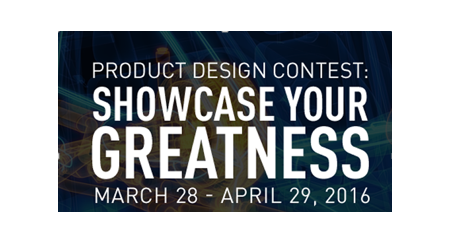 The Product Design Contest was held in March and April 2016