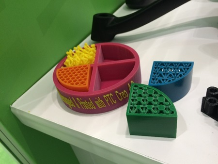 3D printed objects optimized in Creo 4.0 CAD software