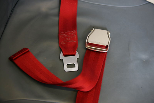 The same straps used in your seatbelts repurposed for critical aviation fixes.