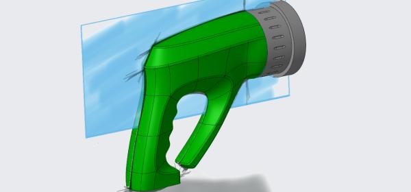 sketched hose nossle