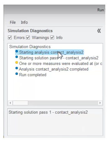 Selecting a diagnostic step to view details.