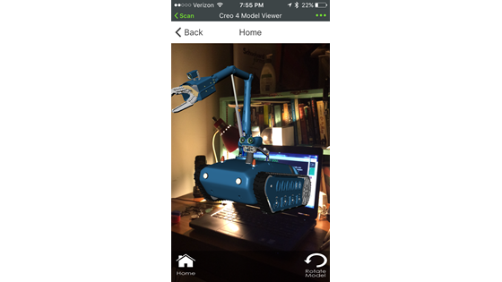 augmented tractor in ThingWorx View app