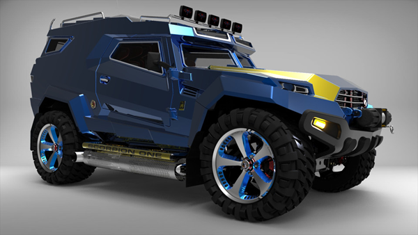 Off road vehicle designed in Creo