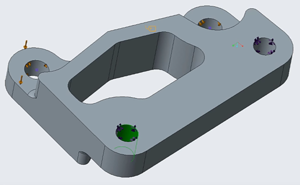 Part with hole selected in Creo Simulate