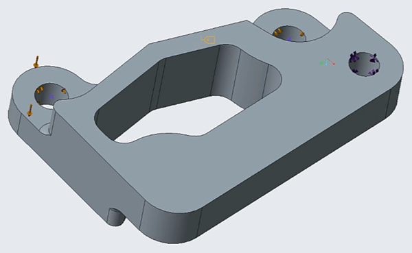 Hole removed in Creo Simulate using Creo FMX functionality