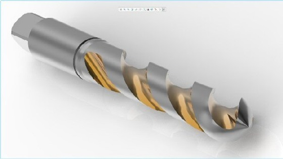 Drill bit showing effect of helical sweep