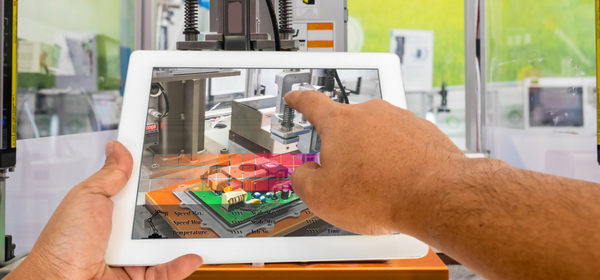 Augmented reality on a tablet in factory