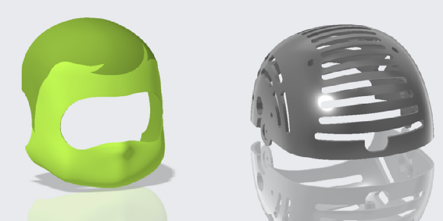 iCub parts modeled in Creo