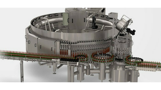 KHS bottle-filling machine, created with a Creo extension for large structures