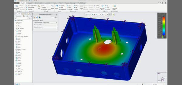 Electronics case tested with Creo Simulation Live
