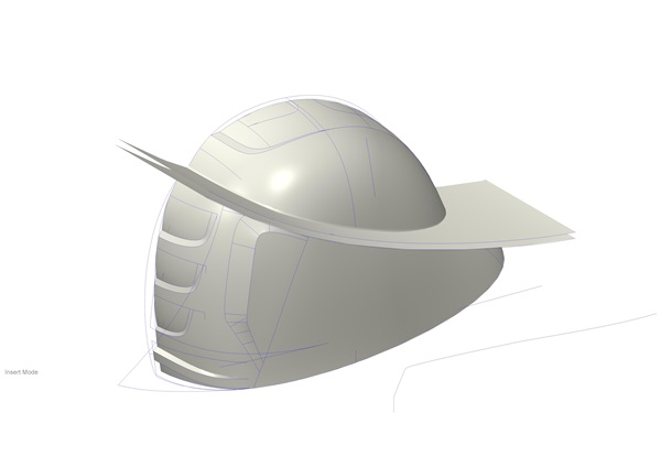 Helmet design underway