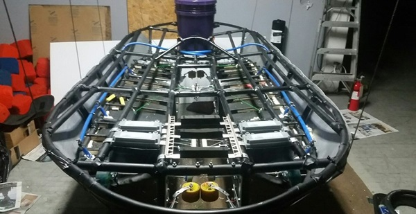 Prototype of hyperloop pod frame