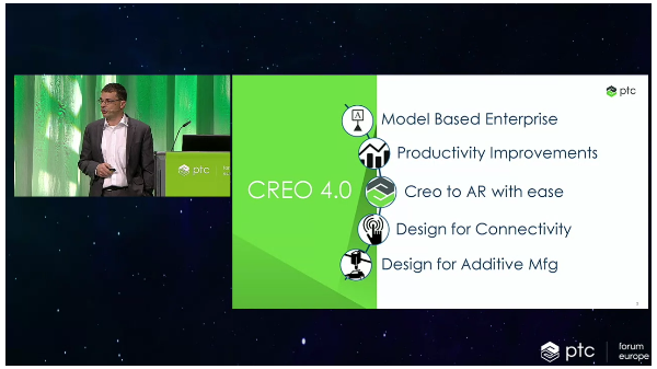 Paul Sagar presents themes for the Creo 4.0 release