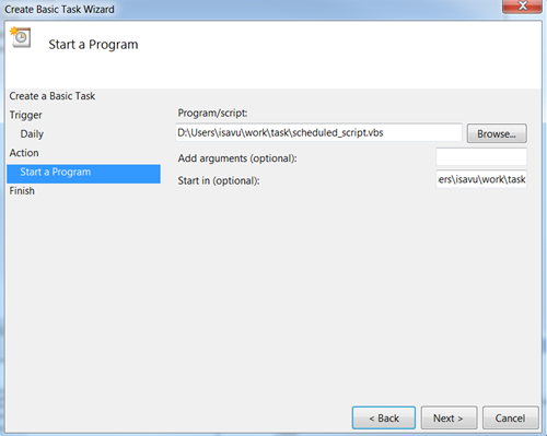 how to set task scheduler in windows 7