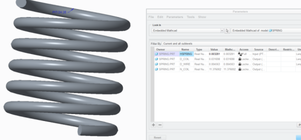 From PTC Mathcad to the 3D Printer: Springs and Drillbits
