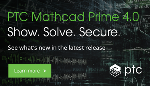 Download PTC Mathcad Prime 4.0 today