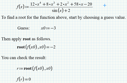 My Three Favorite Worksheets Root Finding In Mathcad Ptc