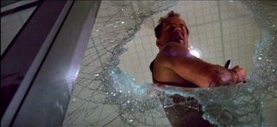 Die Hard screen shot showing Bruce Willis