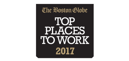 The Boston Globe Names PTC a Top Place to Work for 2017