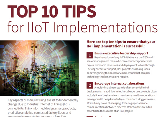 Top 10 Tips for IIoT Implementations image