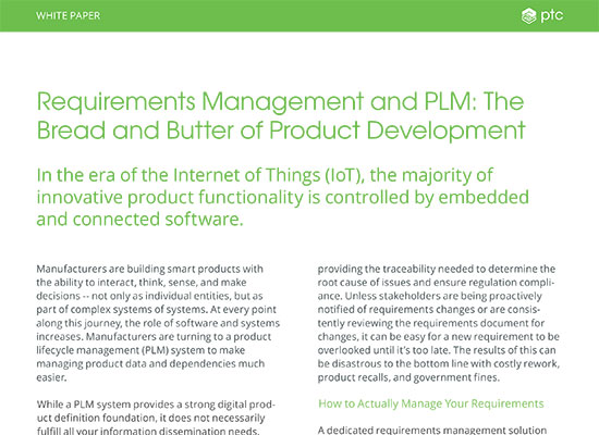 Requirements Management and PLM: The Bread and Butter of Product Developement
