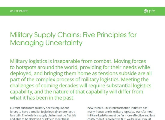 Military Supply Chains: Five Principles for Managing Uncertainty