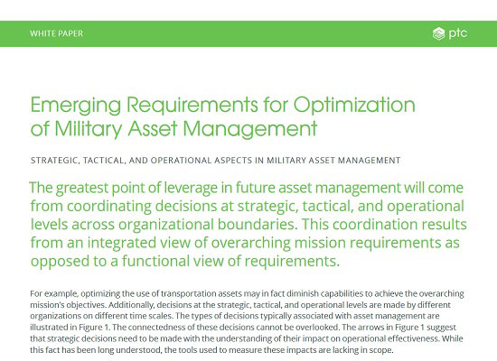 White Paper: Emerging Requirements for Optimization of Military Asset Management