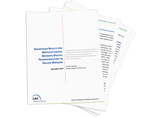 Livre blanc d'ARC Advisory Group : AR for Manufacturing
