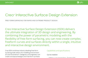 Creo Interactive Surface Design Extension datasheet