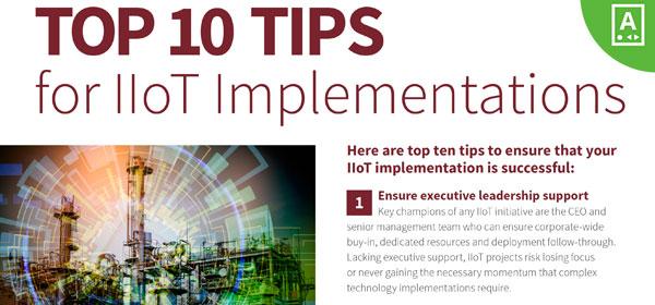 Top 10 Tips for IIoT Implementations | eBook | PTC