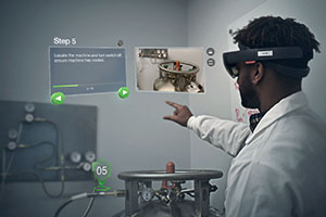 Vuforia Expert Capture augmented reality demonstration in a lab