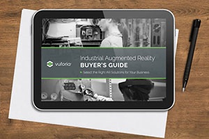 Vuforia Industrial Augmented Reality Buyers Guide shown within a tablet