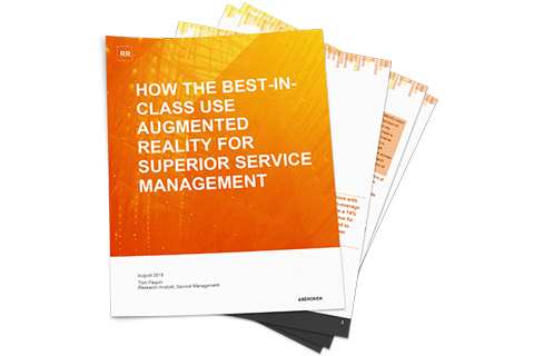 Report: best-in class leaders are using augmented reality remote assistance and other AR applications to drive service excellence.