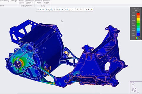 CAD engineer works on 3D model in factory