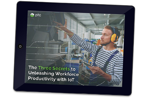 "Laden Sie das eBook ""The Three Secrets to Unleashing Workforce Productivity with IoT"" herunter"