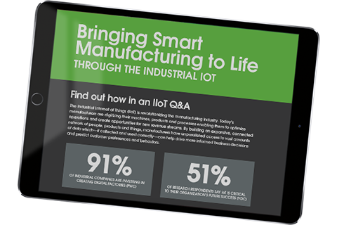 A preview of the full smart manufacturing infographic