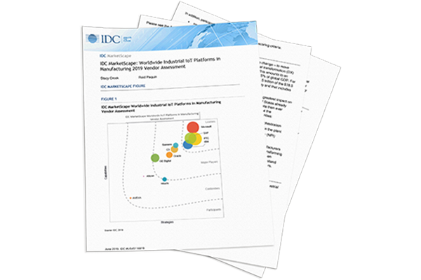 IDC MarketScape: Worldwide Industrial IoT Platforms in Manufacturing 2019 Vendor Assessment