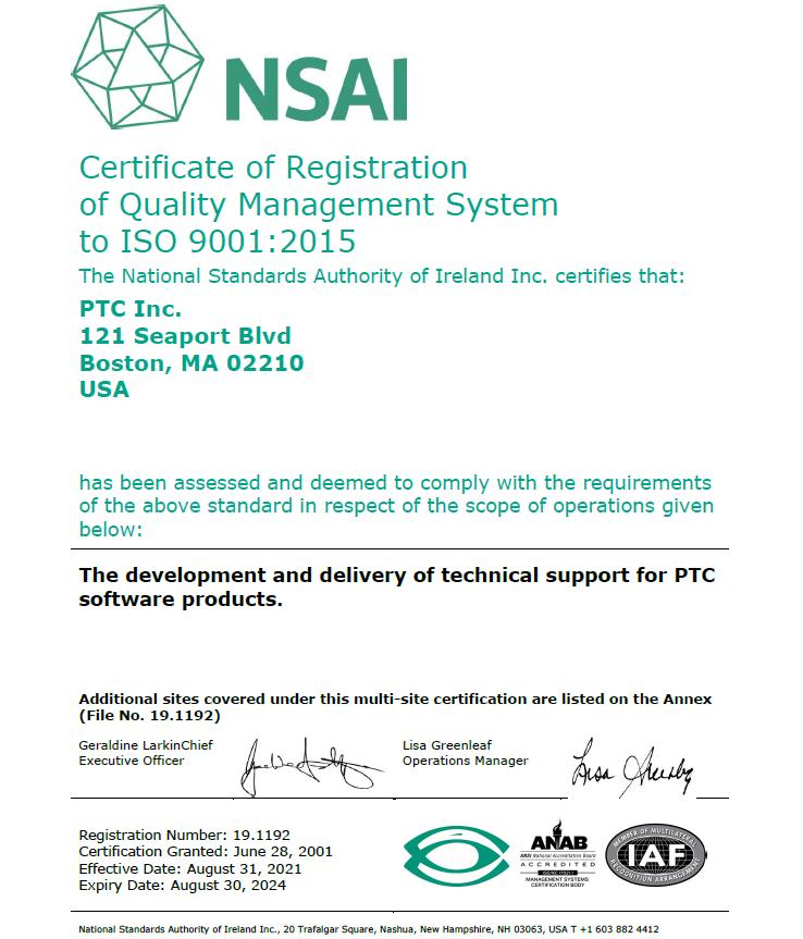 Iso Certificate Ptc